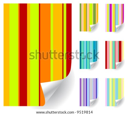 Vector paper curls collection 2 - stock vector