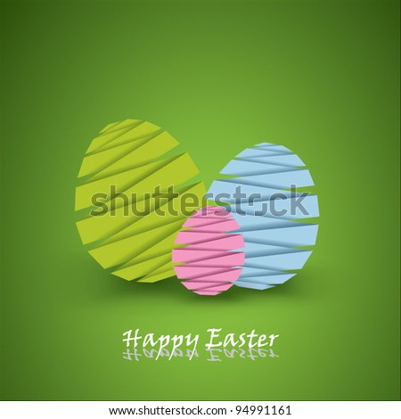 Vector paper easter eggs