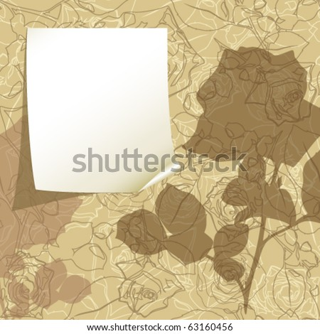 Vector paper greeting card - stock vector
