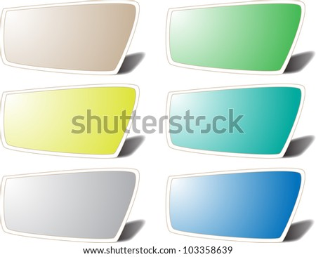 vector paper notes with push pin - stock vector