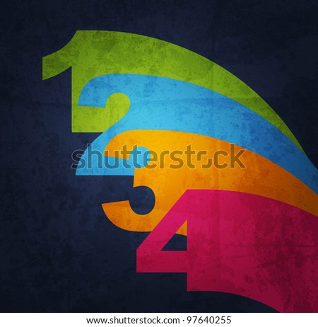 Vector Paper number background - stock vector