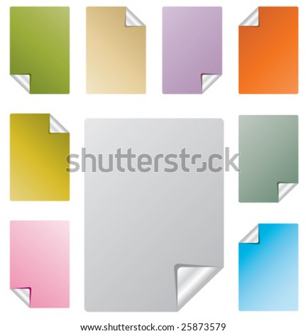 vector paper page curl - stock vector