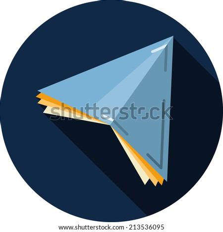 Vector Paper Plane - stock vector