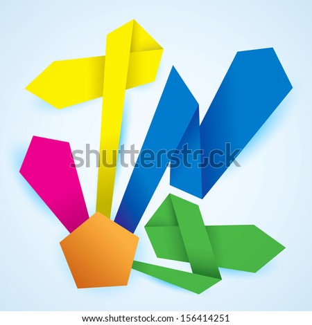 Vector paper product choice diagram origami