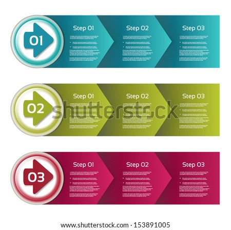 Vector Paper Progress Background / Product Choice or Version, eps 10 - stock vector