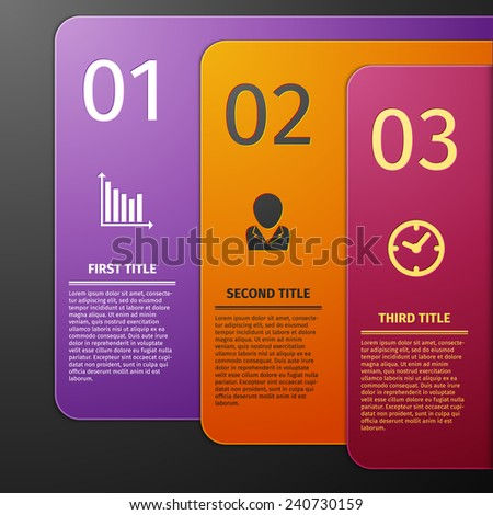 Vector Paper Progress background, product choice or versions. banner set. infographics template - stock vector