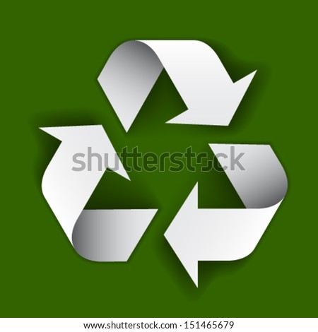 vector paper recycle symbol - stock vector
