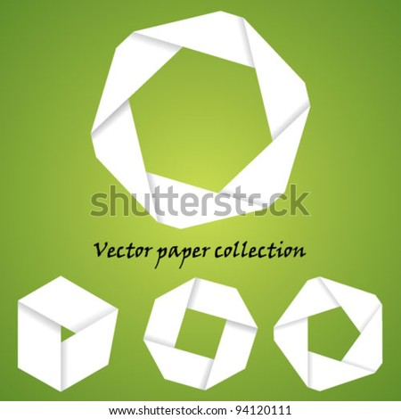 Vector paper simple shapes collection