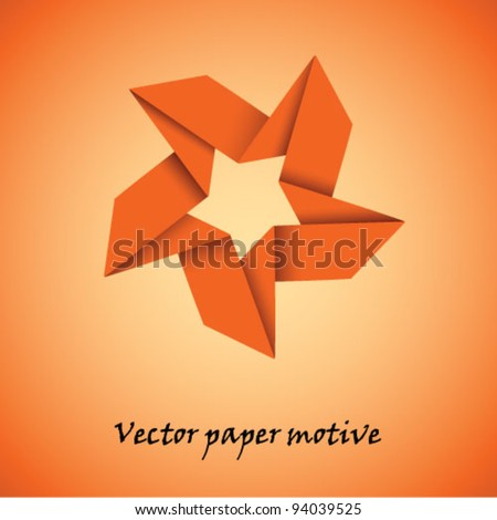 Vector paper star motive