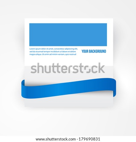 Vector paper template banner. White note Vector. - stock vector