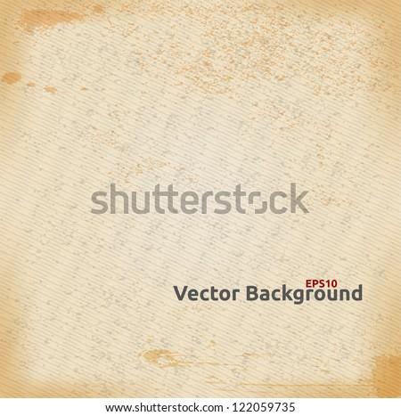 Vector Paper Texture Background. - stock vector
