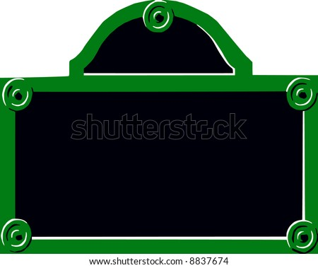 vector - Paris street sign - space for text - stock vector