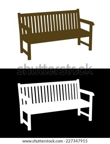 Vector Park Bench Set - stock vector