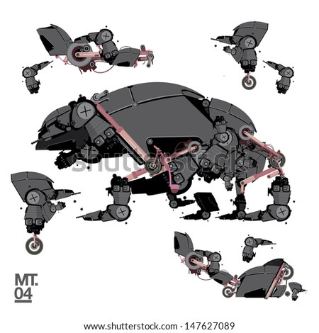 robot animal stock images  royalty free images   vectors Steampunk Vector Elements Steampunk Vector Elements