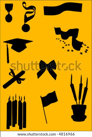 vector party objects - stock vector