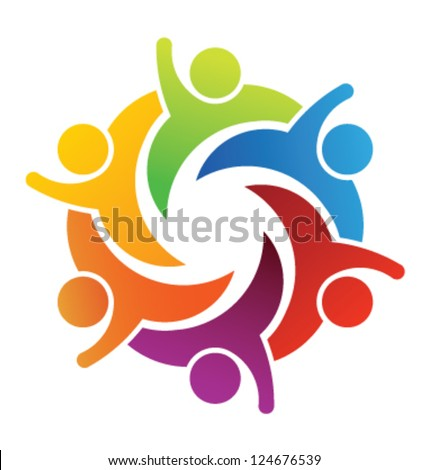 Vector Party People Logo Template - stock vector
