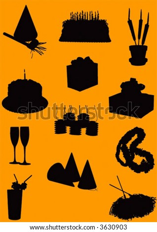 vector party tools - stock vector