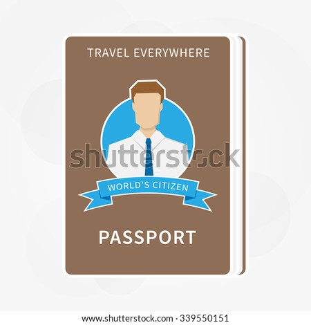 Vector Passport isolated illustration.  - stock vector