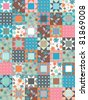 vector patchwork seamless pattern - stock vector