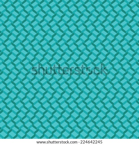 Vector pattern  background. 3-D wallpaper with repetition geometric shape. Gradient cyan  cubes in perspective. Vector illustration clip-art web design elements   - stock vector