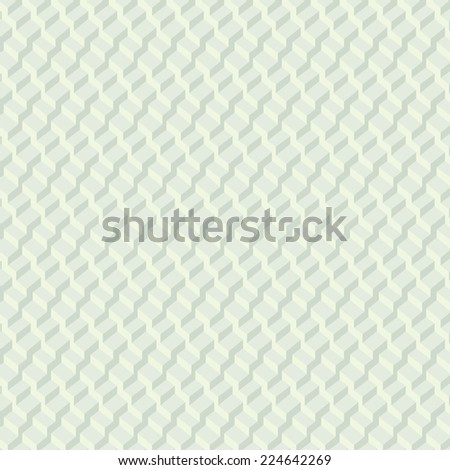 Vector pattern  background. 3-D wallpaper with repetition geometric shape. Gradient soft green cubes in perspective. Vector illustration clip-art web design elements  - stock vector