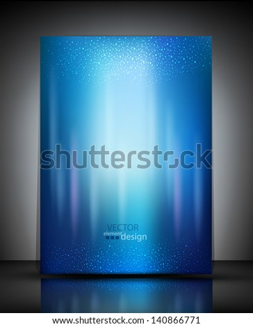 vector pattern blue booklet - stock vector