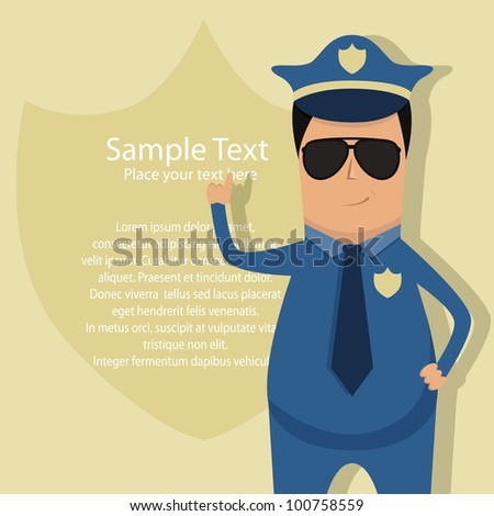 Vector pattern for police announcement - stock vector