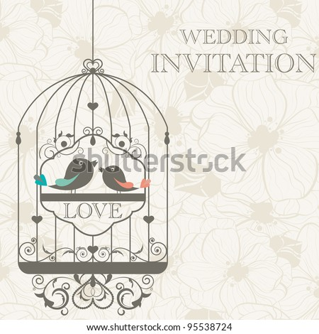 Vector pattern for wedding invitation - stock vector