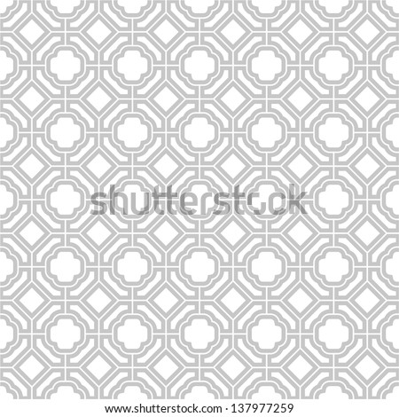 Vector pattern - geometric seamless simple black and white modern texture mesh - stock vector