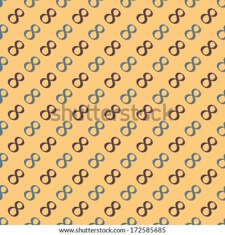 Vector pattern made with the number 8 - stock vector