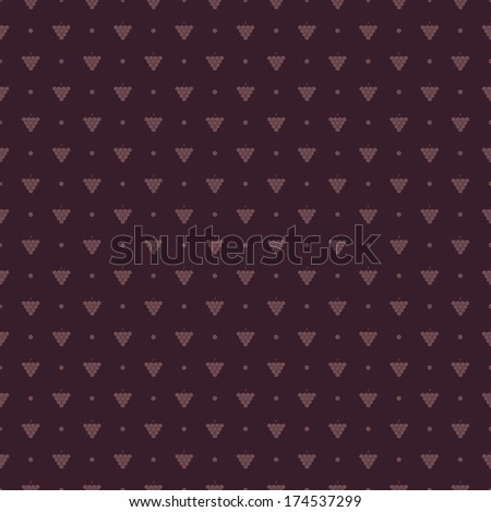 Vector pattern made with wine grapes - stock vector