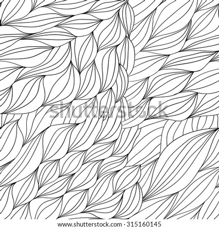 vector pattern of the waves of hair 1 - stock vector