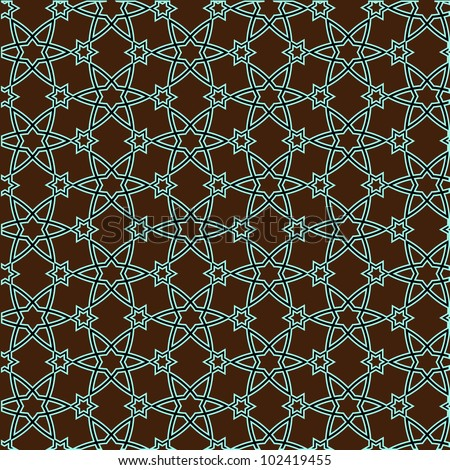 Vector pattern on islamic motif - stock vector