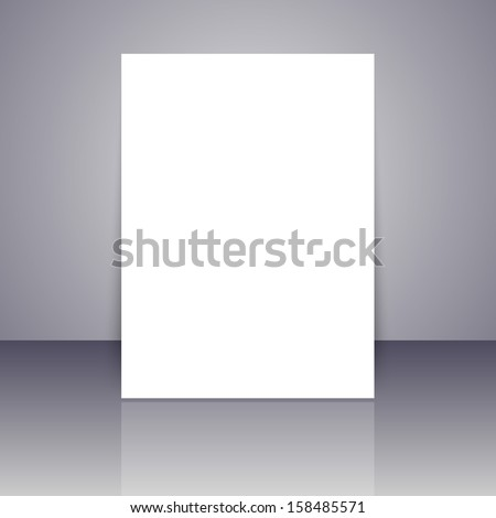 Vector pattern paper with realistic shadow - stock vector