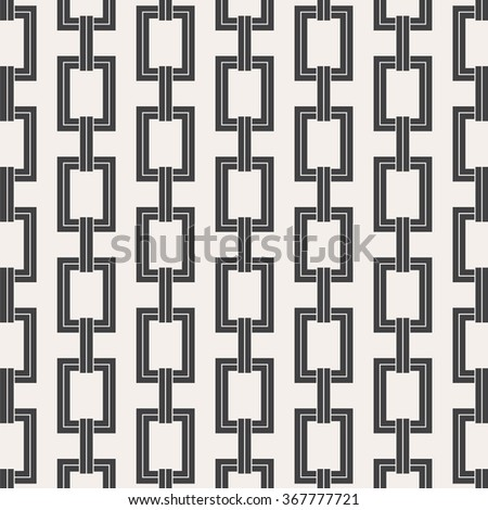 Vector pattern, repeating abstract chain - stock vector