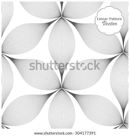 Vector pattern. Repeating geometric flowers - stock vector