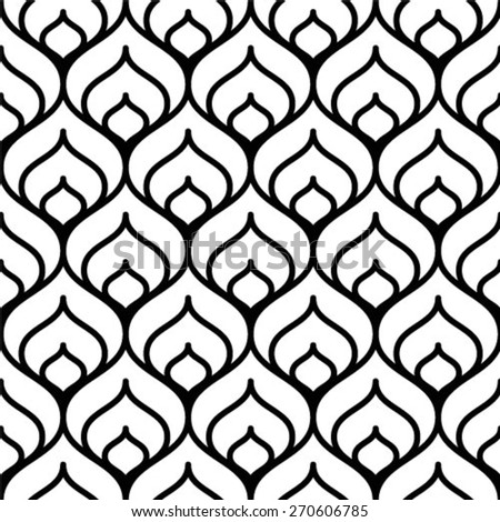 Vector pattern. Repeating geometric tiles - stock vector