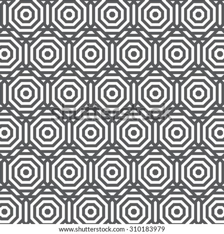 Vector pattern. Repeating geometric tiles with hexagonal elements