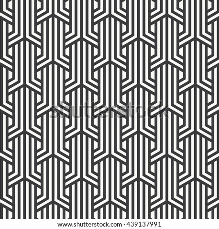 Vector pattern. Repeating geometric tiles with linear striped rhombuses
