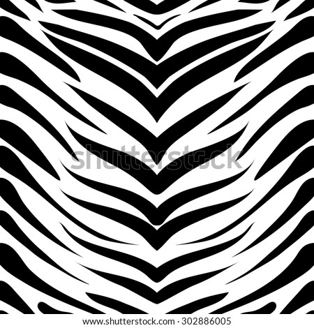 vector pattern, seamless Wallpaper with a picture of a Zebra skins - stock vector