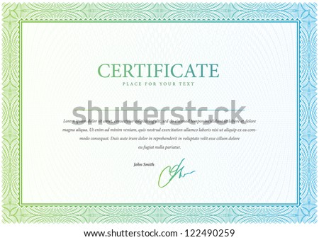 Vector pattern that is used in certificate, currency and diplomas. Vector illustration - stock vector