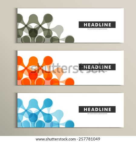 Vector pattern with abstract figures. Banner design - stock vector