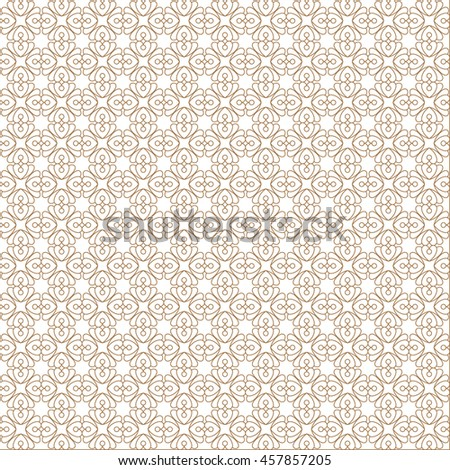 Vector pattern with art ornament. Elements for design . Ornamental lace tracery backgroun . Beige  white. - stock vector