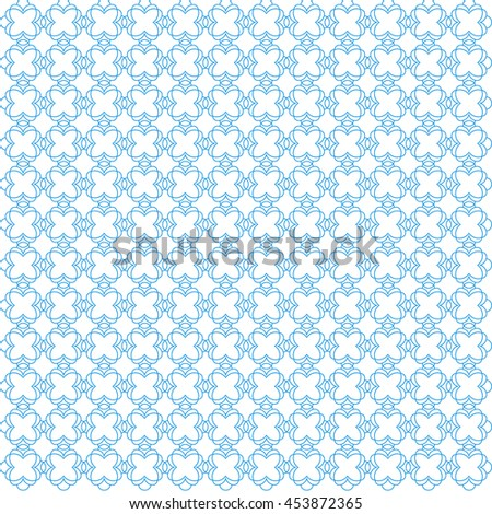 Vector pattern with art ornament. Elements for design . Ornamental lace tracery background .Blue white. - stock vector