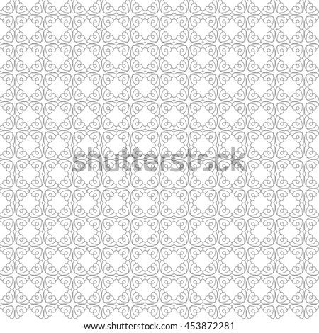 Vector pattern with art ornament. Elements for design . Ornamental lace tracery background .Gray white. - stock vector