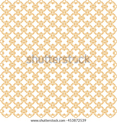 Vector pattern with art ornament. Elements for design . Ornamental lace tracery background .Orange white. - stock vector