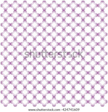 Vector pattern with art ornament. Elements for design . Ornamental lace tracery background.Purple  white. - stock vector