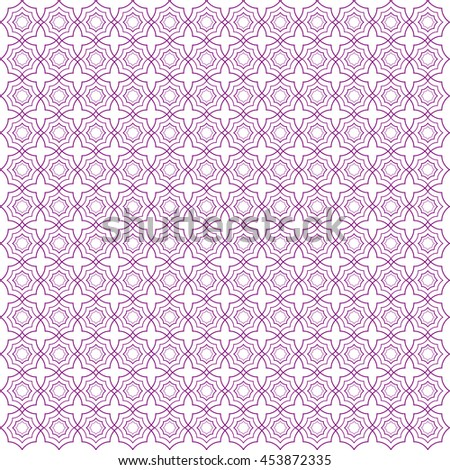 Vector pattern with art ornament. Elements for design . Ornamental lace tracery background .Purple white. - stock vector