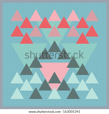 Vector pattern with colorful geometric shapes, triangles,lines.Colorful backdrop, background pattern, retro style banner. - stock vector