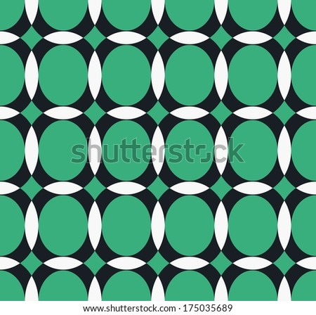 vector pattern with ellipse and hemisphere - stock vector